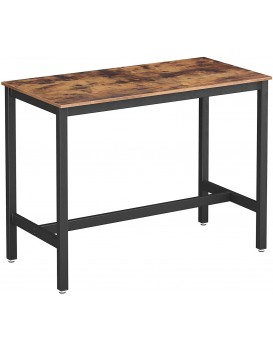 Barový stůl VASAGLE HUGO hnědočerný