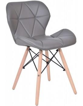 Čalouněná židle  MURET - šedá