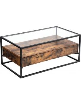 Konferenční stolek VASAGLE Tempe hnědý