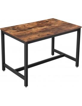 Jídelní stůl VASAGLE Diny hnědý