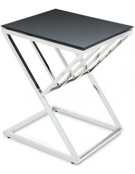 Konferenční stolek OBLIC stříbrný