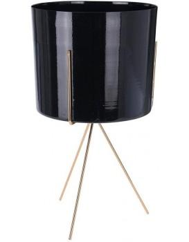 Květináč na stojanu POTEO 22 cm černý