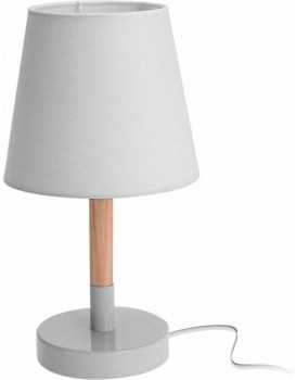 Stolní lampa s bílým stínidlem 30,5 cm