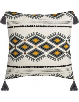 Bavlněný povlak na polštář Aztec 40x40 cm bílý