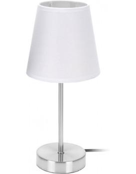 Noční lampa stolní kovová 29,5 cm bílá