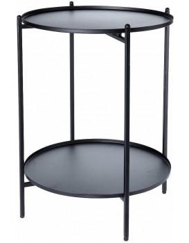 Dvojúrovňový stůl Gass černý