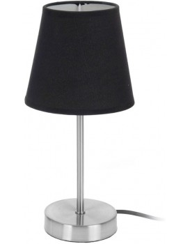 Kovová noční lampička 29,5 cm- černá