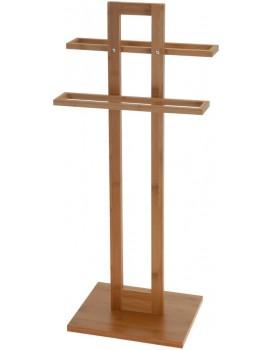 Bambusový věšák na ručníky 85 cm hnědý