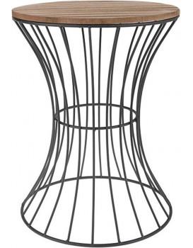 Drátěný konferenční stůl Cheskia 40 cm černo-hnědý