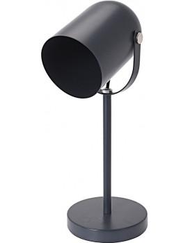 Kovová kancelářská stolní lampa 43,5 cm - šedá