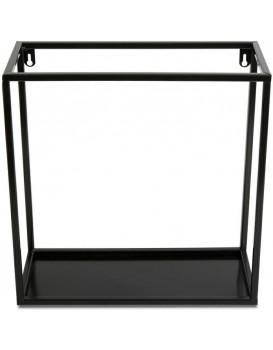 Závěsná police KVADRO 35 cm černá