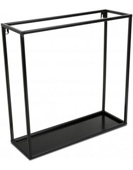 Závěsná police KVADRO 45 cm černá