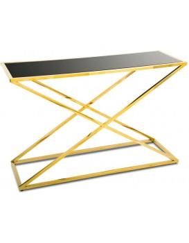Konzolový stůl Saliba zlato-černý