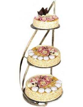 Kovový stojan na koláče a dorty-  Nowell