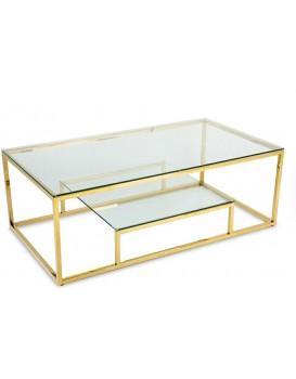 Konferenční stolek STIVAR velký zlatý