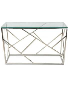 Konzolový stůl Vinkel stříbrný