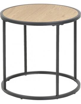 Kulatý odkládací stolek Rena II dub