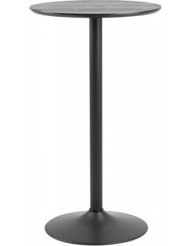 Kulatý barový stůl Ibiza jasan/černý