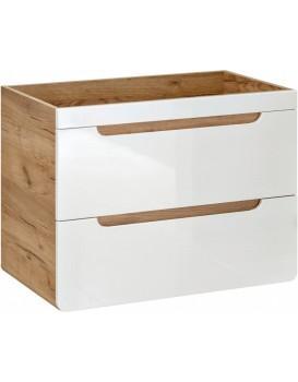 Umyvadlová skříňka ARUBA 80 cm dub/bílá