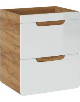 Umyvadlová skříňka ARUBA 50 cm dub zlatý/bílá