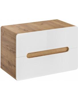Umyvadlová skříňka ARUBA 53x80x46 cm dub/bílá