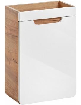 Umyvadlová skříňka ARUBA 60x40x22 cm dub zlatý/bílá
