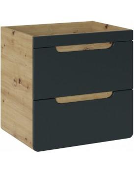 Umyvadlová skříňka ARUBA 60 cm dub/černá