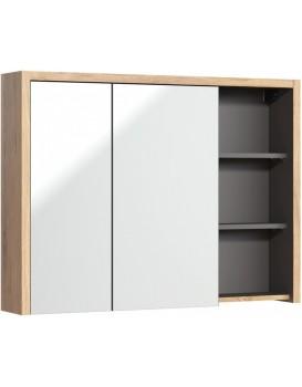 Závěsná koupelnová skříňka Devon 100 cm dub shetland/grafit