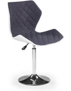 Barová židle Matrix bílá/šedá