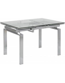 Rozkládací stůl Huddersfield 120-200x85 cm šedý
