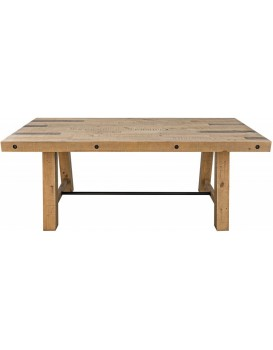 Dřevěný stůl Finca 200x100 cm hnědý