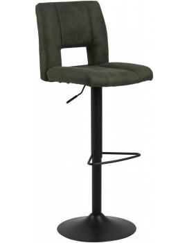 Otočná barová židle Sylvie tmavě zelená/černá