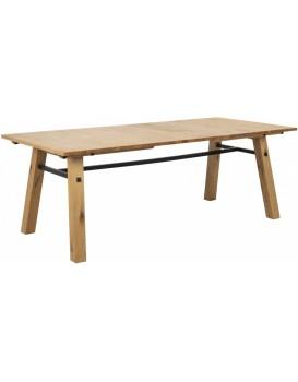 Dřevěný jídelní stůl Stockholm 210 x 95 cm hnědý
