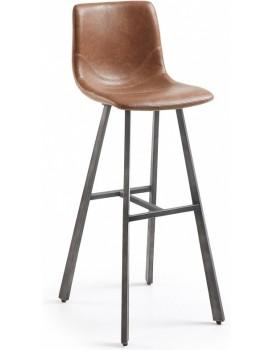 Barová židle Trac hnědá/černá