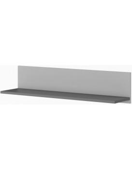 Nástěnná police POK 90 cm grafitová/světle šedá