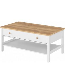 Konferenční stolek Story bílý dub