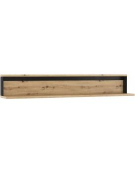 Nástěnná police Quant 155 cm dub artisan/černá