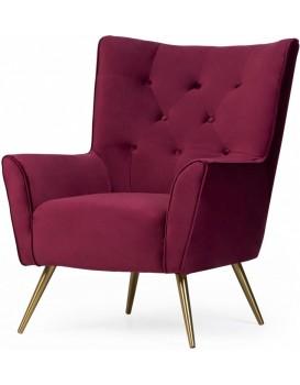 Čalouněné křeslo Bodiva fialové