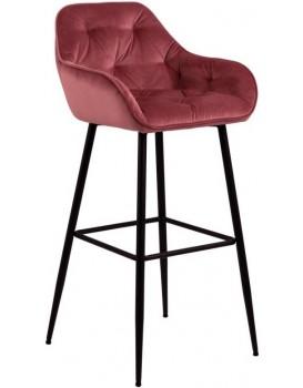 Barová židle Brooke tmavě růžová