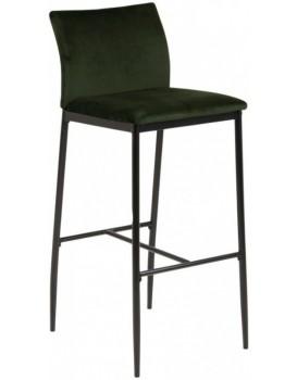 Barová židle Demina tmavě zelená