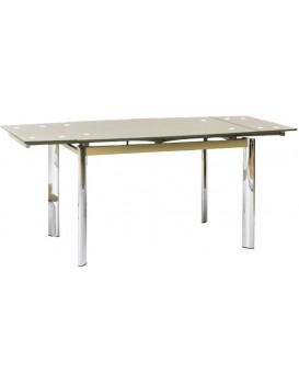 Rozkládací jídelní stůl Lore tmavě béžový