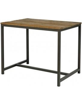 Barový stůl Vintage hnědý/černá