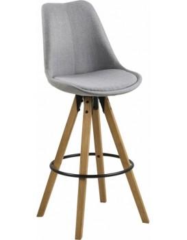 Barová židle Dema světle šedá