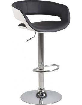 Barová židle Grace bílá/černá