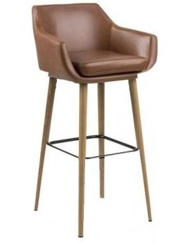 Barová židle Nora hnědá