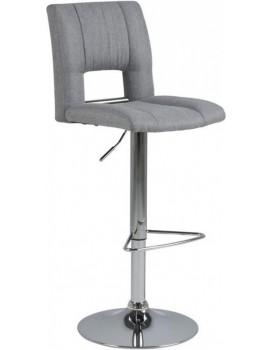 Otočná barová židle Sylvie světle šedá