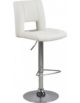 Otočná barová židle Elen bílá