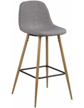 Barová židle Wilma III světle šedá/dřevo