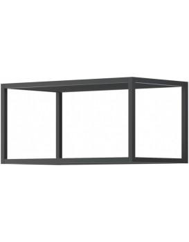 Nástěnná police Moyo 60 cm kovová černá