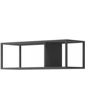 Nástěnná police Moyo 90 cm kovová černá